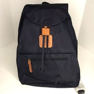 Bric's x-travel backpack NWT Navy canvas leather